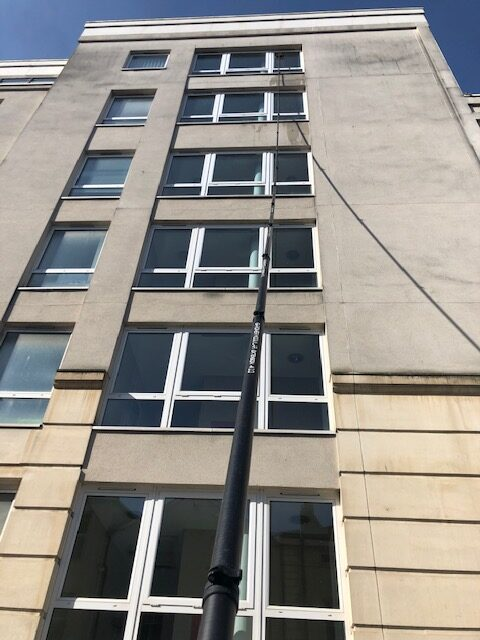 Case Study: High Rise Window Cleaning in Cardiff Bay.